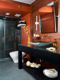 Small Bathroom Remodeling: Modern & Masculine, downstairs bath