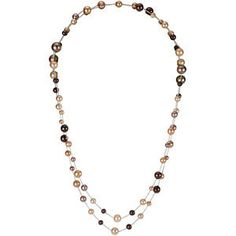 """$165.55 No Tax! Amidon Jewelers offers this amazing Sterling Silver Freshwater Cultured Chocolate Pearl 47.25"""" Necklace from Amidonjewelers.com"""
