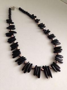 Onyx Spike Necklace | Lark & Lily Designs