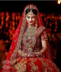 Look who just nailed the classic red bridal lehenga look!🔥 {Photo: } Use for a chance to get… Bridal Lehenga, Saree Wedding, Wedding Bride, Wedding Dresses, Desi Wedding, Punjabi Wedding, Wedding Ceremony, Saris, Indian Wedding Pictures