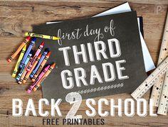 Free Back-To-School Printables