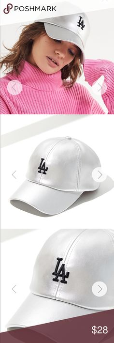 Brand new LA Dodgers silver cap Silver metallic LA Dodgers brand new  baseball cap! So 7fdd8bfae1c7