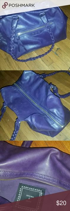 Purple Vegan Leather Bag! From Urban Outfitters. Expands to hold a lot of stuff! Pretty details, zippers and braided handle in eggplant purple. Excellent used condition. Deena & Oozzy Bags Satchels