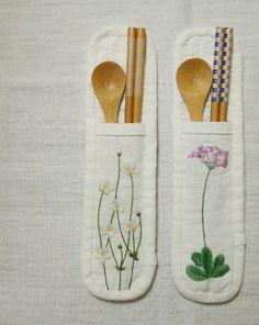 精美的手工刺绣筷子套 来自拼布网 - 微博