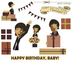 Beatles birthday card they say its your birthday beatles lovers ok so this is definately the coolest greeting card ive made so far m4hsunfo Choice Image