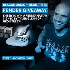 NEON TREES Tyler Glenn signed Fender Guitar  http://beaconaudio.votigo.com/fbsweeps/sweeps/Neon-Trees-Fender-Guitar-Give-Away