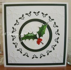 A Passion For Cards: Holly and Snowflakes