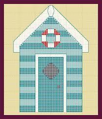 cross stitch beach huts