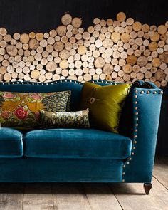 Shop Santiago Peacock Sofa from Haute House at Horchow, where you'll find new lower shipping on hundreds of home furnishings and gifts. New Living Room, Living Room Sofa, Living Room Furniture, Living Room Decor, Peacock Living Room, Sofa Design, Sofa Furniture, Furniture Design, Sofa Sofa