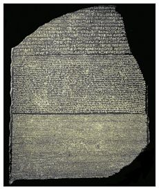 Display of Rosetta stone