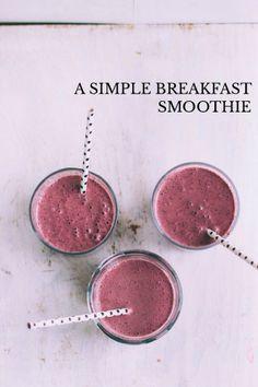 A simple breakfast smoothie - sarah | vanilla bean's Story on STELLER #steller