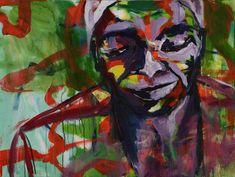 Original Portrait Painting by Gisela Hammer Original Paintings, Original Art, African Life, Abstract Expressionism, Buy Art, Saatchi Art, Modern Art, Canvas Art, Vibrant