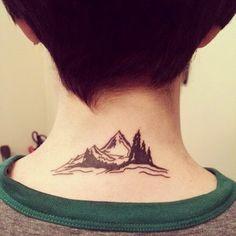 This neckline mountain ridge. | 26 Gorgeous Tattoos To Inspire Every Nature Lover