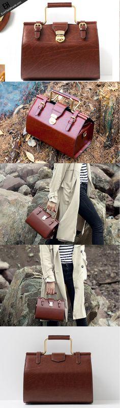 Genuine Leather doctor bag Satchel bag shoulder bag for women leather