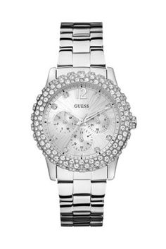 Silver-Tone Shimmering Sport Watch | GUESS.com