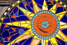 Tile Sun Mosaic by photomato, via Flickr