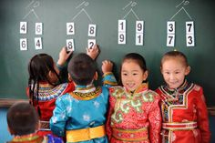 Students learning in Mongolia 5. Education (Informal and formal education)