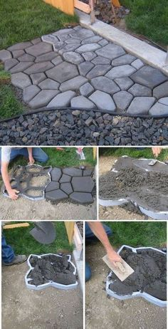 DIY Cobblestone Path More
