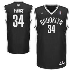 adidas Paul Pierce Brooklyn Nets Replica Player Jersey - Black
