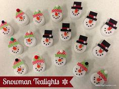 snowman tealight clever tricks