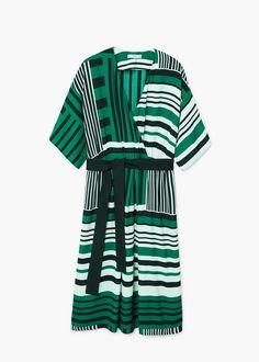 Vestido cruzado estampado - Vestidos de Mujer   MANGO 50€ España