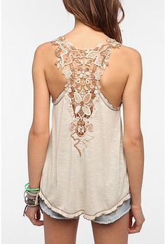 UrbanOutfitters.com > Staring at Stars Crochet Back Tank