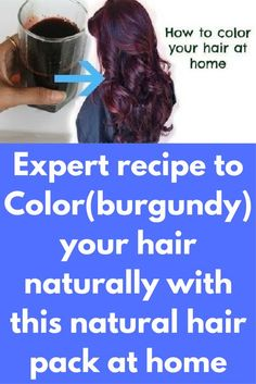 Expert recipe to Color(burgundy) your hair naturally with this natural hair pack at home Today I will share how to color your hair naturally. With this beetroot henna, you can get soft and shiny hair along with the color. For best results do this treatmen Henna Hair Color, Henna Hair Dyes, Dyed Hair, Natural Hair Serum, Dyed Natural Hair, Natural Hair Styles, Natural Haircare, At Home Hair Color, Color Your Hair