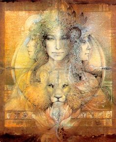 Goddess Knowledge Cards - Triple Goddess  Illustrations de Susan Seddon Boulet