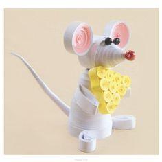 Набор для квиллинга Чаривна Мить Мышка, 8,5 х 6,5 см