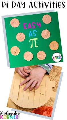 """Pi Day """"Easy as Pi"""" Bulletin Board Set Flip Craft - Kindergarten, Math Activities For Kids, Fun Math Games, Math For Kids, Pie Craft, Middle School Literacy, March 14th, Display Lettering, Math Classroom, Classroom Resources"""