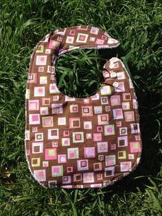 Baby Bib, Cotton and Terry cloth, Fits 3 months to 3T www.kamsnaps.com