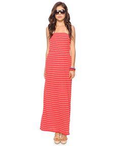 i adore this striped maxi dress