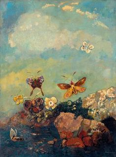Papillons, huile sur toile, 73,9 x 54,9 cm, 1910. The Museum of Modern Art, New York.