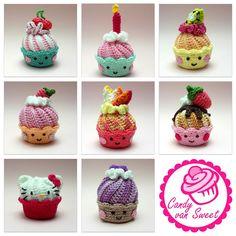Amigurumi esquema de crochet magdalenas torta