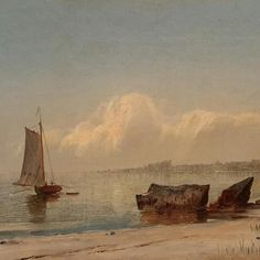 John Adams Parker - Heading out to Sea, n. offered by Brock & Co. on InCollect Hudson River School Paintings, Cold Spring Harbor, John Adams, Out To Sea, White Mountains, Art Studies, Art Club, Mountain Landscape, Impressionism