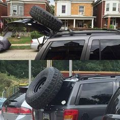 Jeep Grand Cherokee WJ Rear Hatch Spare Tire Carrier