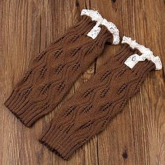 2016 New Unisex Baby Leggings Solid Children Leggings Lace Trim Gaiters Boots Leg Warmers Kids Knit Leg Warmers Free Shipping