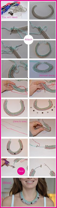 DIY Sewn Chain Necklace