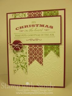 Heart of Christmas for The Paper Players by stampwithsandy - Cards and Paper Crafts at Splitcoaststampers