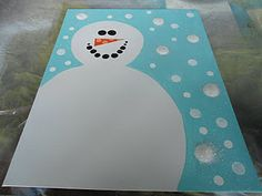 Snowman on a Canvas (couple ideas here).  The girls have really been enjoying painting canvases w/ quotes.  I think J would like to do these, too.  (Perhaps even with a snow quote on this snowman's belly?)
