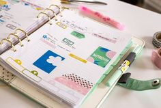 planner spread by Jenn McCabe for The Lilypad with LBW Spring Forward Planner Add ons