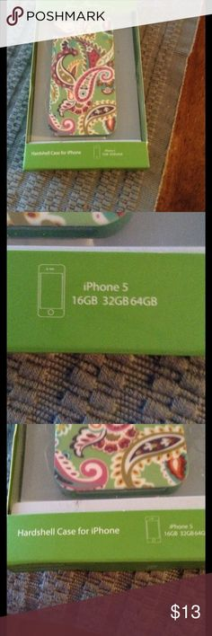Vera Bradley iPhone 5 case never used New iPhone 5 case Vera Bradley Accessories Phone Cases