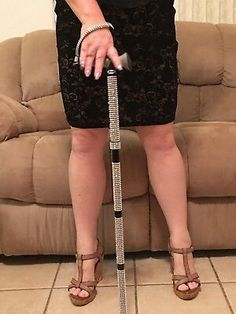 I do include an extra sheet of Bling for adjustable canes. Cane Features Black Nylon Wristlet with Silver Bling. No real Rhinestones, Diamonds or Crystals, just indented pieces of Bling secured to a flexible grid. Folding Cane, Walking Canes, Grandma And Grandpa, Multiple Sclerosis, Black Nylons, Gifts For Dad, Health And Beauty, Bling, Ebay