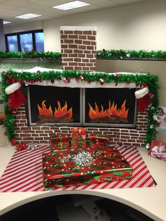 27 best Office holiday decorations images on Pinterest | Christmas ...