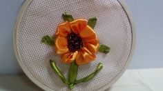 How to DIY Embroidery Satin Ribbon Sunflower + Tutorial .