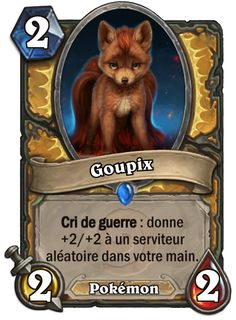 Goupix #Hearthstone #Pokemon