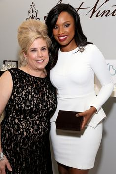 Jennifer Hudson looking stunning at Variety Power of Women Event in LA! Saint Vintage is a premier sponsor of this event. #GOPINK today with Saint Vintage- 100% of all PINK sales will go straight to Stand up to cancer!
