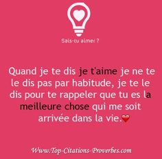 C'est pour ça que je te le disais ou écrivais si souvent et que je te le demandais mais... Messages For Him, Text Messages, Some Quotes, Best Quotes, Love Quotes For Crush, Love Message For Him, Couple Texts, Aesthetic Words, French Quotes