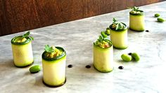 The combination just fits so well, I love the sweetness of the thin ribbons of zucchini with the tangy punch of the guacamole. Guacamole, Zucchini Rolls, Thin Ribbon, Ribbons, Meet, Vegan, Ethnic Recipes, How To Make, Food