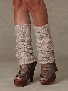 Leg warmers. Kinda feeling the legwarmers with strappy gladiator wedges